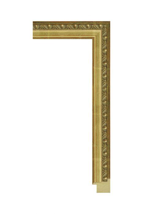 Houten lijst - SENELAR - Goud met ornament 31 mm breed -