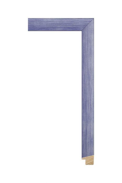 Houten lijst - SENTO II - Blauw met zilver 22 mm breed