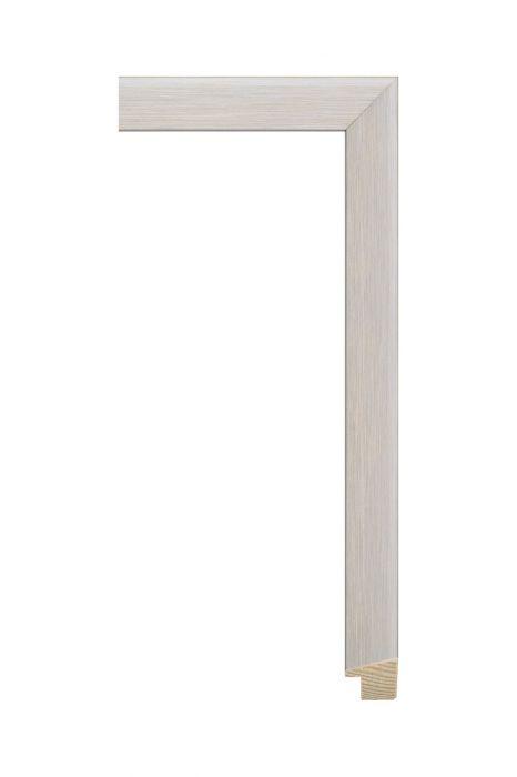 Houten lijst - SENTO II - Grijs met zilver 22 mm breed