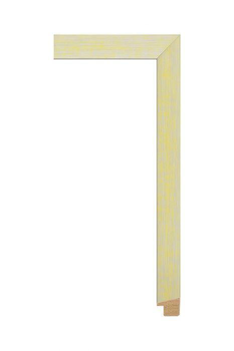 Houten lijst - SENTO II - Groen met zilver 22 mm breed