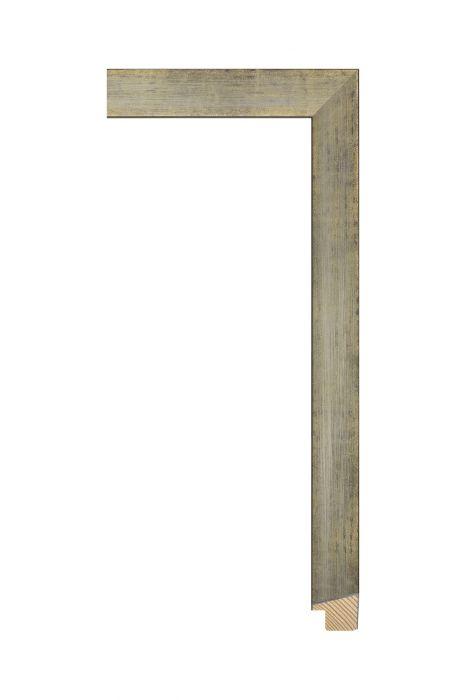 Houten lijst - SENTO II - Zilver op goud 22 mm breed