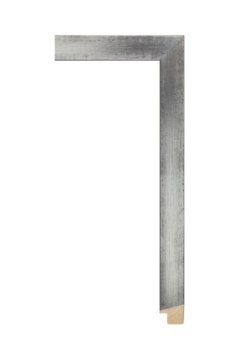 Houten lijst - SENTO II - Zilver op zwart 22 mm breed