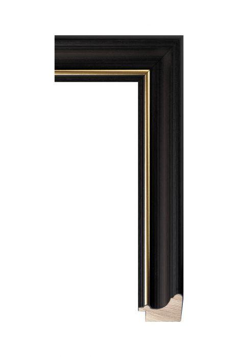 outen lijst - RUSTICA - Zwart met bruin 22 mm breed